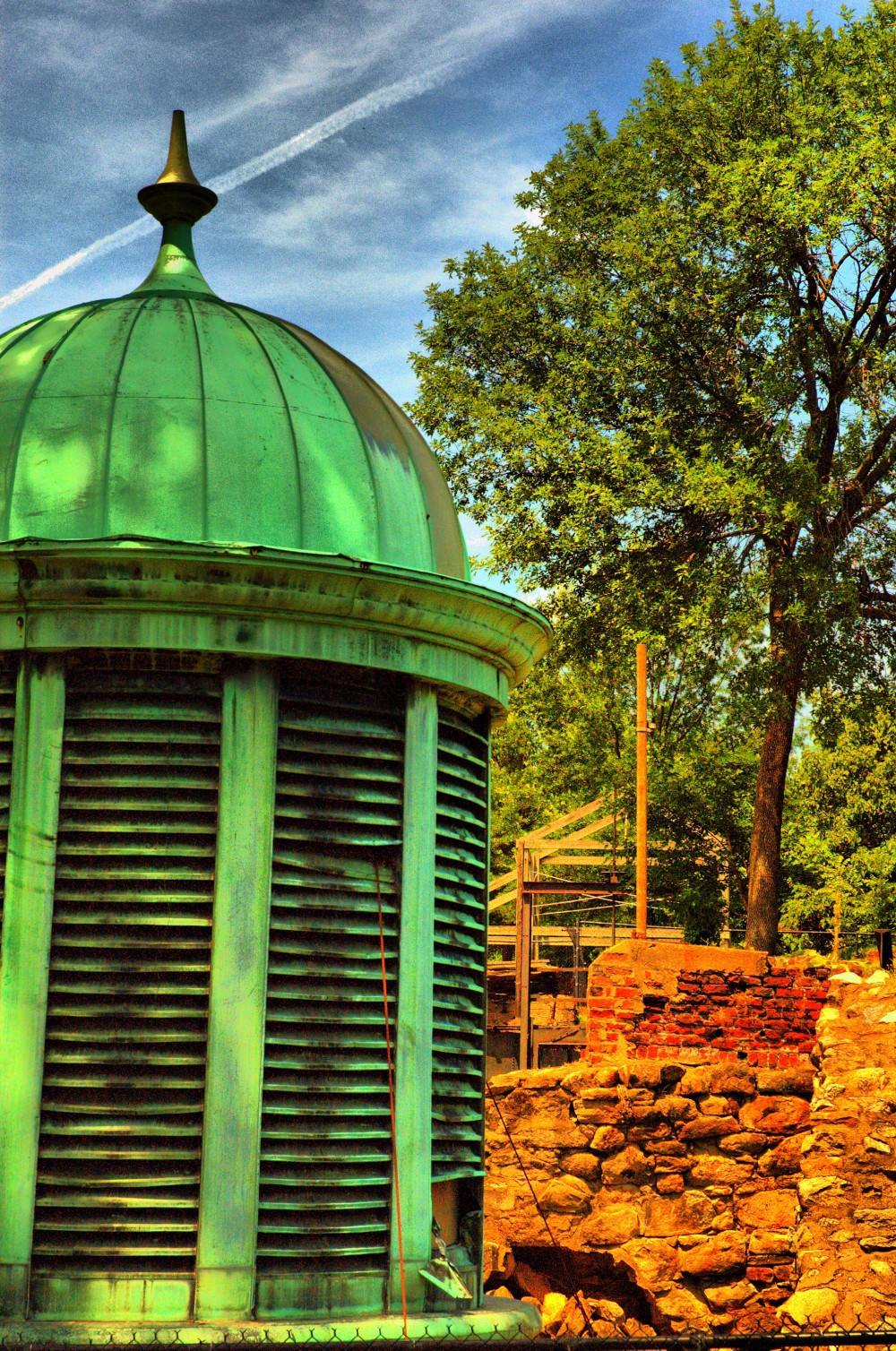 Tredegar Iron Works - Cupolas from the Virginia State Penitentiary